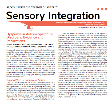 Dispraxia y Autismo: Evidencia e Implicaciones.